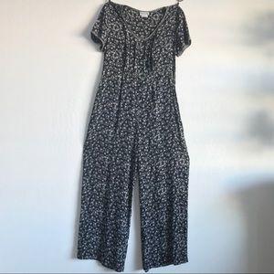 Vintage Nina Piccalino Floral Black Jumpsuit